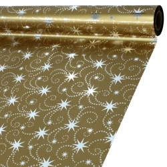 Celofan Metal Navidad Estrellas