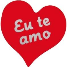 "Etiquetas Adhesivas Regalo - ""EU TE AMO"" (Portugés)"