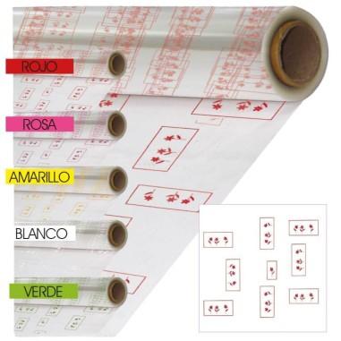 Papel De Celofan Transparente - Modelo FLEUR