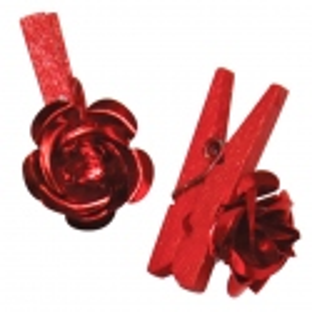 Pinzas Flor Roja