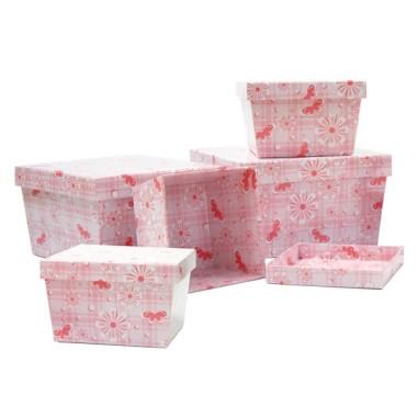 Cajas decorativas 2. (5 piezas)