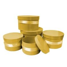 Cajas decorativas REDONDA (5 piezas)(-30%)