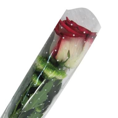 Bolsa de bouquet 1 tallo- Modelo PUNTOS (50 unds.)
