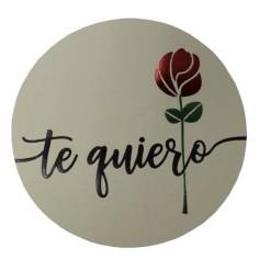 Etiquetas Rosa Te Quiero